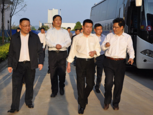 Hubei Xianning City leaders visited kinghonor to guide the work